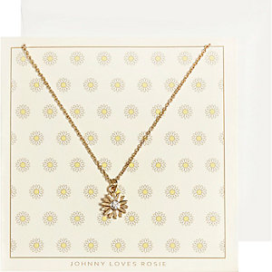 Johnny Loves Rosie gold plate flower necklace