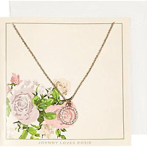 Johnny Loves Rosie gold plate circle necklace