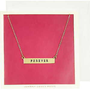 Johnny Loves Rosie gold plated necklace