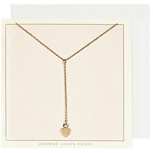 Johnny Loves Rosie gold plated heart necklace
