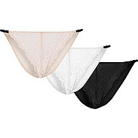 Light pink delicate knickers multipack