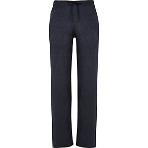Navy drawstring pyjama trousers