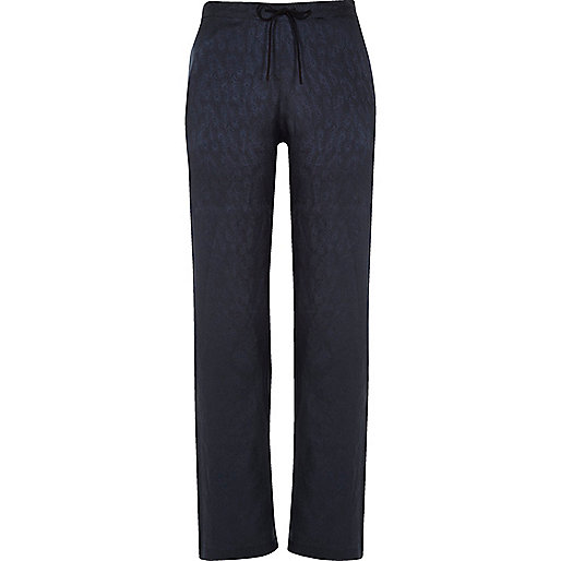 Pantalon de pyjama bleu marine à cordon