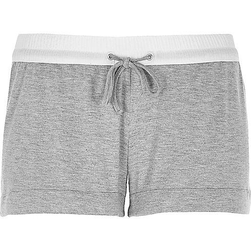Graue, sportliche Jersey-Shorts