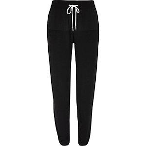Black pyjama joggers