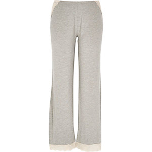 Grey marl pajama bottoms