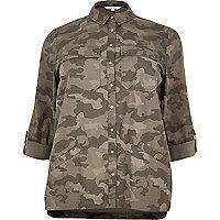 Veste chemise RI Plus camouflage verte