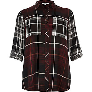 RI Plus red checked shirt