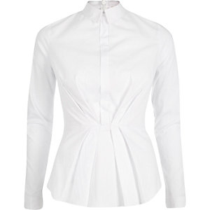 White peplum shirt