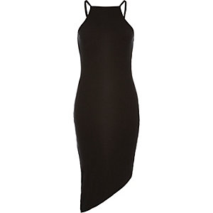 Black asymmetric cami dress