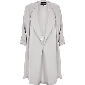 Light grey duster jacket