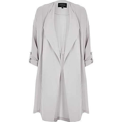 Light grey duster jacket