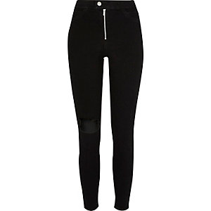 Black washed high rise Molly jeggings