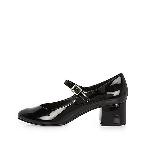 Black patent heel Mary Jane shoes