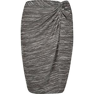 RI Plus grey twist knot pencil skirt