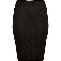 RI Plus black lace pencil skirt