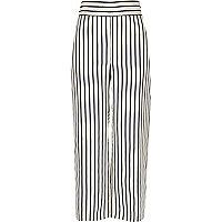 White stripe print trousers