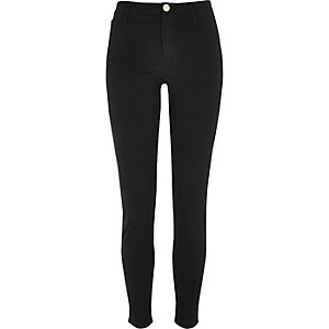 Black super skinny ponte pants