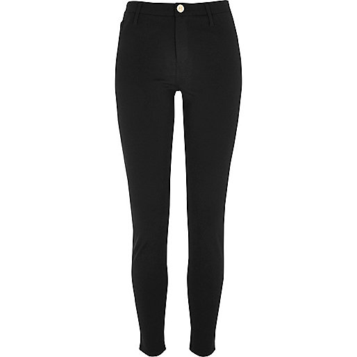 Black super skinny ponte trousers
