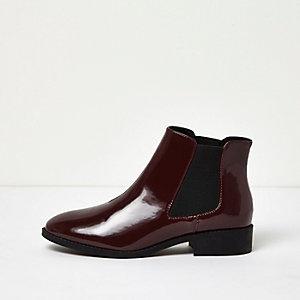 Chelsea-Stiefel aus Lackleder