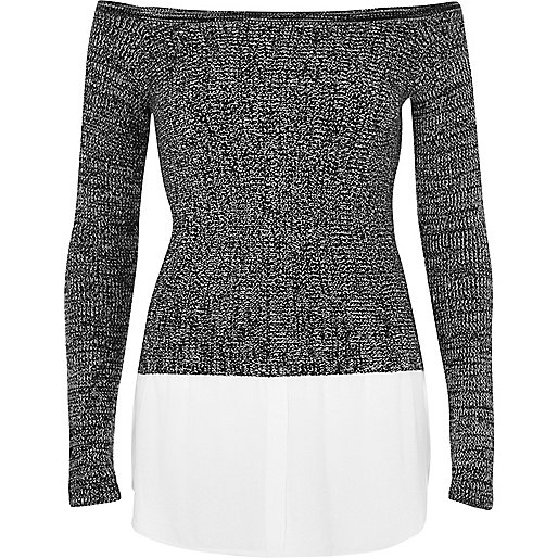 White 2 in 1 sweater