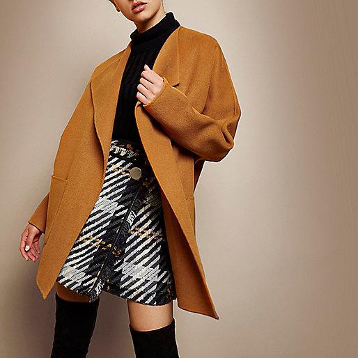 RI Studio orange wool cocoon jacket