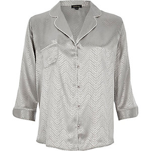 Grey snake jacquard shirt