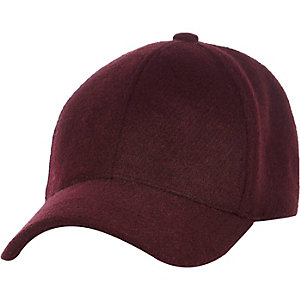 Dark red wool cap