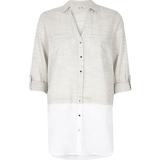 Light grey layered shirt