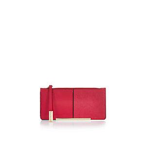 Pink foldout purse
