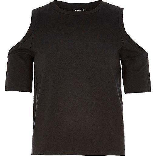 Top style épaule dégagée noir