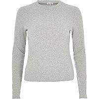 Grey turtleneck top