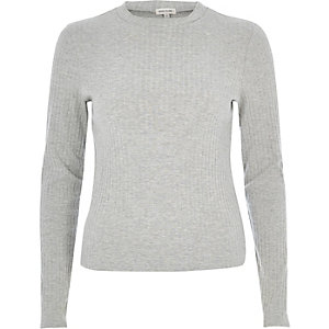Grey turtleneck top