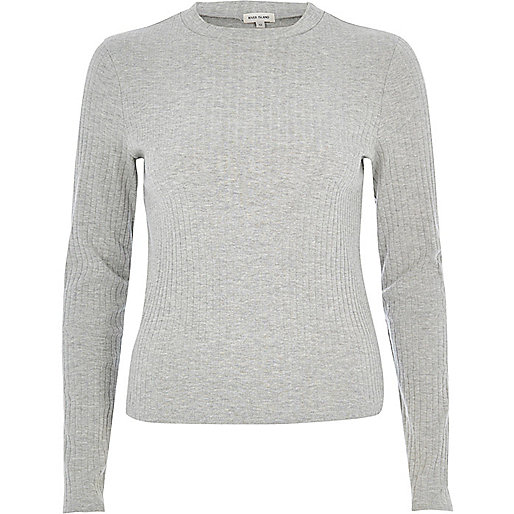 Grey turtle neck top