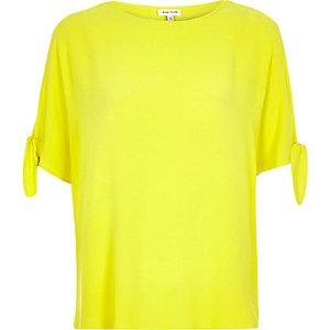 RI Plus yellow split sleeve t-shirt