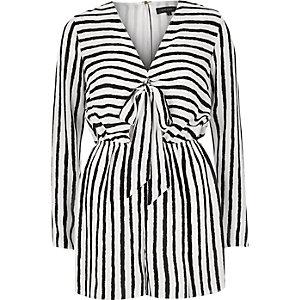 Black stripe playsuit