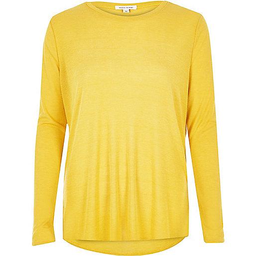 Top jaune en jersey léger