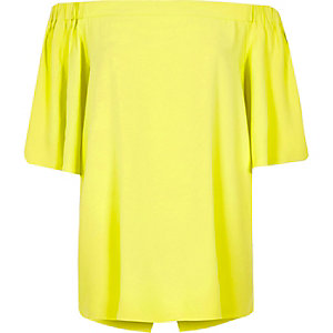 Lime bardot top
