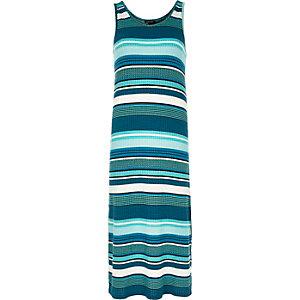 Blue stripe maxi dress