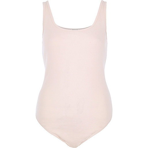 Light pink basic bodysuit