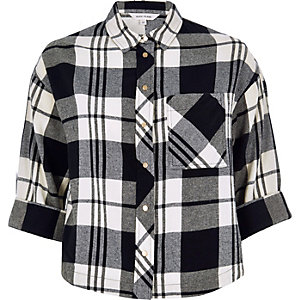 Black checked grazer shirt