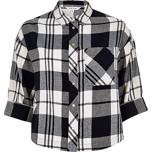 Black checked grazer shirt