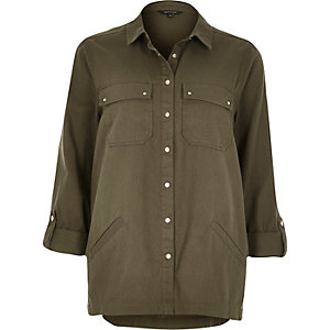 Khaki woven shirt