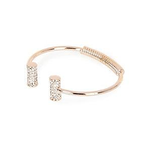 Rose gold tone diamanté cuff