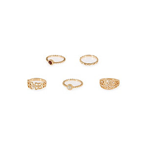 Gold tone rings pack