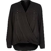 Black military blouse