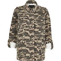 Khaki camo army jacket