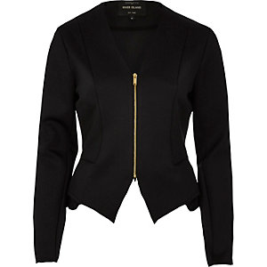 Black peplum jacket