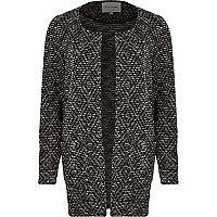 Black print jacket