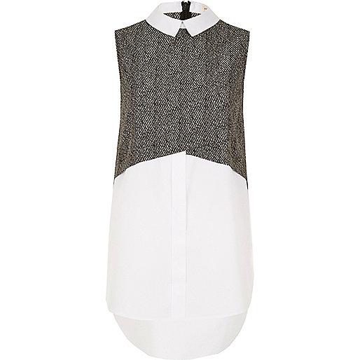 Grey pattern layered shirt